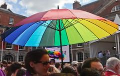 Umbrella: Marriage Referendum: In The Upper Yard, Dublin Castle (Skyroad) Tags: