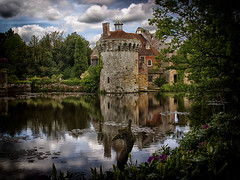 Scotney Castle (PhilnCaz) Tags: reflection gardens sussex kent ruins nt edited scenic historic moat nationaltrust processed hdr highdynamicrange scotney scotneycastle tonemapped thenationaltrust colorefex niksoftware colourefex scotneyhouse philncaz scotneymanor