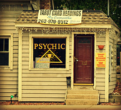 Psychic (V and the Bats) Tags: building wisconsin bicycling waukesha samantha psychic foxrivertrail tarotreadings