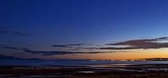 Barassie Sunglow (Rossco156433) Tags: light sea sky cloud beach nature water night dark outdoors coast scotland twilight nightime ayrshire sunglow barassie southayrshire
