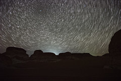 Star Trails (Ahmed.Saleh87) Tags: travel camping white mountains night landscape star nikon nightscape desert egypt trails sigma astro astrophotography polaris astromony strars