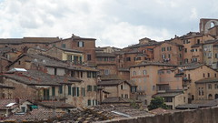 Siena (Maureen.morlet) Tags: old city blue houses sky italy orange clouds outside ancient italia exterior maisons roofs bleu ciel siena nuages extrieur italie sienne ville toits