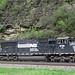 Norfolk Southern Railway # 6791 diesel locomotive (SD60M) (Horseshoe Curve, Pennsylvania, USA)