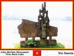 John McCain Monument Truc Bach Lake (vicbrasil) Tags: people monument vietnam hanoi sapa hilltribe cuong hoalu johnmccain northeastregion northwestregion trucbachlake redriverdeltaregion