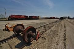 On the Border - Portal, ND (MinnKota Railfan) Tags: railroad train pacific north engine rail railway loco canadian locomotive portal saskatchewan cp dakota axle manifest