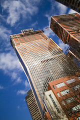 Nothing but Blue Skies (Jesonis Photography_On/Off (super busy)) Tags: blue light sky newyork reflection clouds lookup 7d 20mm canondslr jesonis photography