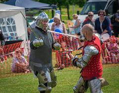 To The Death (Rob Jennings2) Tags: fight medieval sword helmet reenactment bracknell bracknellshow