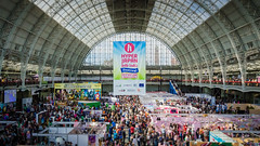 Hyper Japan 2016 - Olympia (Corbicus Maximus) Tags: olympia london hyper jappan 2016 festival roof indoors indoor exhibition stands glass 3ds adventures