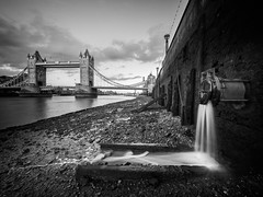 Sluice (Andrew H-W) Tags: lee water thames landscape bridge season towerbridge nd buildings places 2016 lowtide imagetype filters city neutraldensity objectsstructures tripod hard london time gran river structures object summer graduated uk andrewhaywardwills