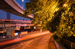 Edsa Speed (Blue Nozomi) Tags: edsa light trails highway flyover manila philippines