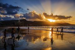 Playa de Las Canteras- Isla de Gran Canaria - ROF3432-20160930 (Fotgrafos en Canarias) Tags: atardeceres puestasdesol