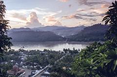 Laos : Luang Prabang, sunset #4 (foto_morgana) Tags: analogphotography analogefotografie asia clouds landscape laos lightroom mountainous nikoncoolscan panoramic photographieanalogue scenic sky sunset tourism travelexperience vuescan