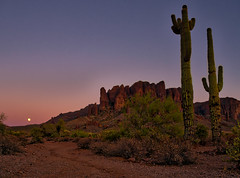Superstitious Moon - AZ (Mike Boening Photography) Tags: pag arizona event mikeboening moon olympus penske sunset superstitionmountain westervillecentral landscape cactus az