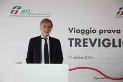 Graziano DelRio Ministro Trasporti e Infrastrutture (Ferrovie dello Stato Italiane) Tags: rfi trenitalia treno av linea altavelocit treviglio brescia viaggio prova trasporti infrastrutture grazianodelrio