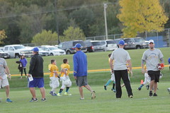 1481 (bubbaonthenet) Tags: 09292016 game stma community 4th grade youth football team 2 5 education tackle 4 blue vs 3 gold