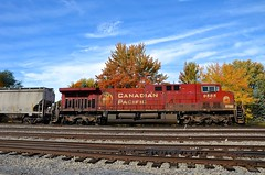 CP 9585 (Michael Berry Railfan) Tags: cp canadianpacific cp650 fueltrain ethanoltrain train freighttrain adirondacksub lasalle lasalleyard montreal quebec ge generalelectric ac4400cw dpu cp9585