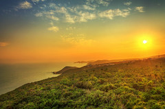 Sunset from Lighthouse (Anirban.243) Tags: sunset sea sun landscape golden hour hdr vizag vishakapatnam