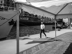 preparing for the party (mahohn) Tags: bw water monochrome wasser ship harbour hamburg hafen schiff 43 hafencity fujix10
