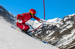 Ouvreur ESF Val D'Isre (Alexis Collaert) Tags: ski nikon course val 70200 disere slalom esf valdisere 70200mm chamois d300 2015 28f ouvreur