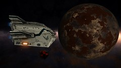 Meeting ammonia (CMDR Pete) Tags: game screenshot dangerous space elite scifi 12 sim elitedangerous