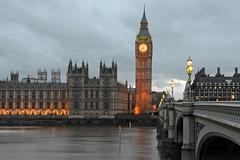 Big Ben (Rene Mensen) Tags: bridge england west london tower clock water lights big nikon long exposure ben cloudy britain great rene minster mensen d5100