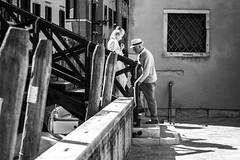 incontro a Venezia (Davide Tessaro) Tags: venice people bw streetphotography venezia abigfave