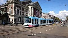 Trams op Koningsdag 20 en slot (Peter ( phonepics only) Eijkman) Tags: city holland netherlands amsterdam transport nederland tram rail rails trams strassenbahn noordholland gvb streetcars combino nederlandse