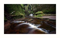 The Devils Pulpit in Finnach Glen. Wonderful place, apart from the idiots who left litter and generally didn't give a shite about the place beyond instant gratification. (Gearmash) Tags: water landscape scotland trossachs glengoyne finnachglen