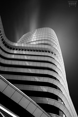 Cruise to Nowhere (Vanwetswinkel Vincent) Tags: sky urban blackandwhite bw white abstract black lines architecture modern contrast waves sony curves cruiseship a7s