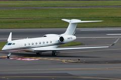 N827DC (sabian404) Tags: cn portland airport international pdx g6 gulfstream kpdx 6174 gvi g650 glf6 n674ga g650er n827dc