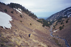 (Ferran  Tudela) Tags: road sky nature clouds fuji pentax hiking superia mini valley rivers cerdanya espio
