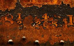 Fractural Fractionation (Junkstock) Tags: aged artifact artifacts color closeup corrosion corroded california craquelure decay decayed distressed graphics graphic iron industrial industry locomotive machinery machine number numbers old oldstuff oldandbeautiful patina paint peelingpaint perris relic rust rusty rustyandcrusty rusted railroad textures texture typography type transport transportation trains train vintage weathered rivets altebenutztegegenstände oldusedobjects text