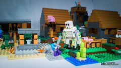 Lego 21128 - Minecraft - The village (gnaat_lego) Tags: alex thevillage pig lego zombie steve review librarian farmer creeper babypig 21128 gnaat enderman minecraft irongolem hellobricks zombievillager