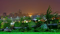 Tehran , view From Milad Tower Yard (daniyal62) Tags: tower night long exposure fuji iran foggy fujifilm tehran milad xa1 xf27mm