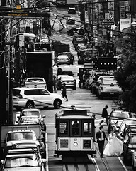 love story (louie imaging) Tags: sf street travel wedding bw cars john photography bay san francisco couple mood dress hill jazz cable hills area destination louie local iconic vibe