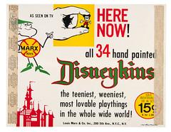 1961 Disneykins sign (Tom Simpson) Tags: vintage toys disneyland mickeymouse 1960s 1961 vintagedisney disneykins