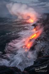 Violent Construction (Gary Randall) Tags: dsc43812 hawaii thebigisland lava volcano ocean pacificcity