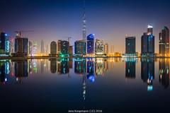 20151107-Dubai-1200098.jpg (bankstudent) Tags: skyline asien dubai nacht uae motive orte reflexion spiegelung ae vae vereinigtearabischeemirate tageszeiten businessbay burjkhalifa
