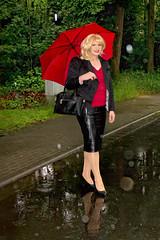 Heusenstamm3 (Tinaturtle27) Tags: rain leather transvestite pantyhose crossdresser