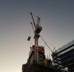 Crane at dusk (Merrillie) Tags: building site twilight crane dusk sydney samsung australia machinery nsw samsungs7