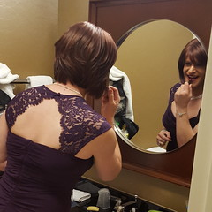 Finishing Touches (Bree Wagner) Tags: ball transgender lipstick gown gala tg makup genderfluid