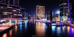 Moon Rise over Dubai Marina (Bakar_88) Tags: longexposure reflection skyline night nikon asia dubai uae hdr dubaimarina hdri nikond90 nikkor1024 andrewashenouda