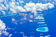 Land ahoy! (dlorenz69) Tags: ocean sea lagune bird water coral islands wasser view turquoise indianocean insel tropical tropic blau approach reef maldives atoll riff vogelperspektive malediven trkis korallen ozean tropisch indisch