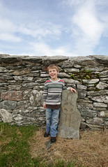 Archer at Cooley (backpackphotography) Tags: ireland cross monastery monolith donegal cooley moville highcross skullhouse backpackphotography cooleycross lougharcherfoyle