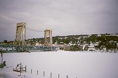 01-010 (tylerquinn82) Tags: bridge winter snow film fuji superia michigan 400 fujifilm houghton xtra olympusinfinityjr