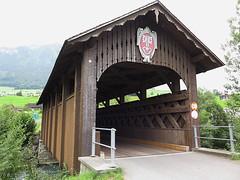Fadenbrucke (Priska B.) Tags: holzbrcke nidwalden engelberger aa fluss schweiz switzerland swiss svizzera holz brcke