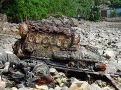 An Engine Becoming Rock (mikecogh) Tags: funafuti tuvalu corrosion engine motor change extreme