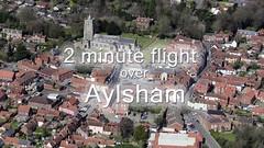 2 minute flight looking down on Aylsham (John D F) Tags: aylsham aerial video norfolk airtoground aerialimagesuk
