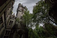 Le Chateau - The Tower (Chris Dudek) Tags: chateau urbex urban exploring old architecture abandoned forgotten derelict decay detail belgium sky tower clocktower haunted horror