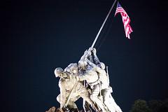 Iwo Jima Memorial (Diacritical) Tags: washington washingtondc august72016 leicacameraag leicamtyp240 summiluxm11435asph f40 sec centerweightedaverage iwojima usflag